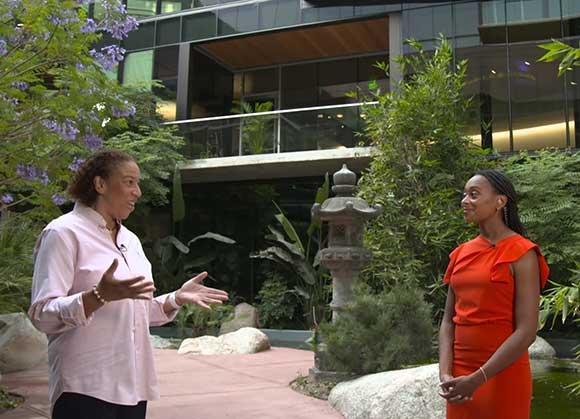 Dr. Dawn Wright and Dr. Rae Wynn-Grant at Esri User Conference 2021