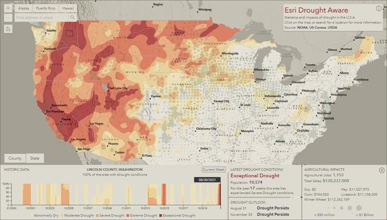 Esri Drought Aware