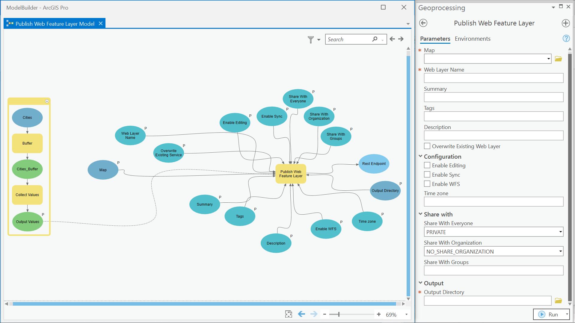 Use a custom publishing script tool in ModelBuilder