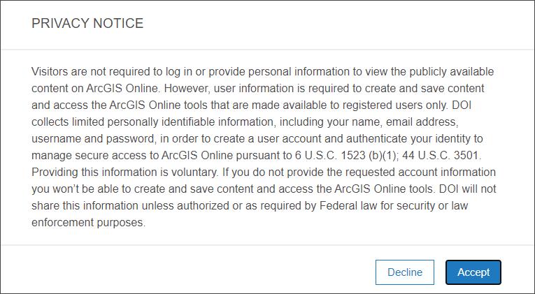 Sample access notice