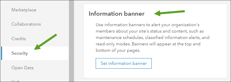 Information banner section