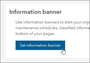 Set information banner