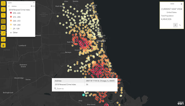 Updated map tools in ArcGIS for Power BI