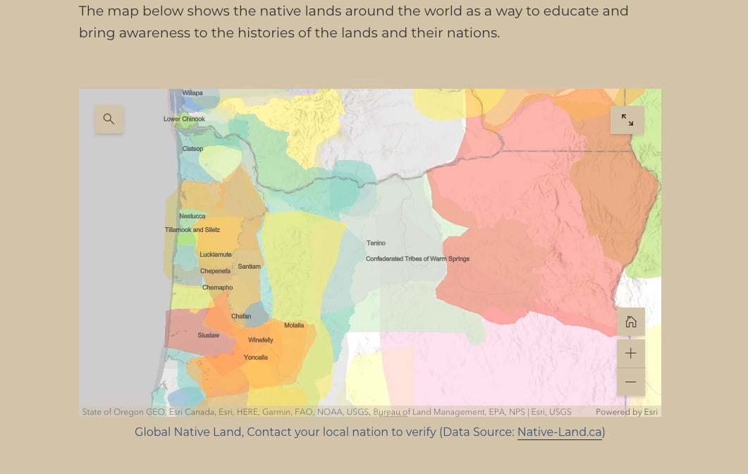 A map of Native American tribal lands