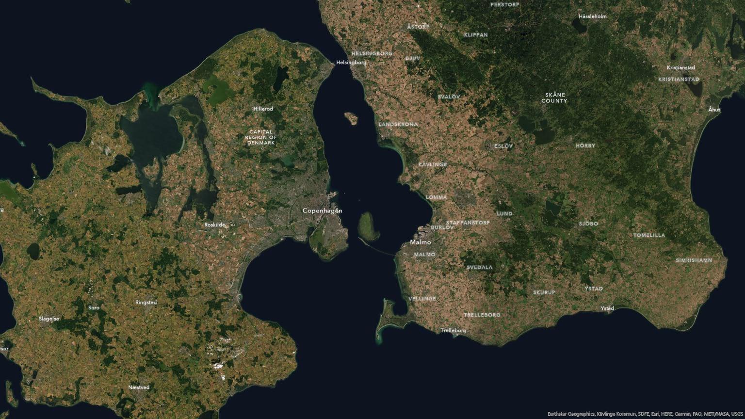 Copenhagen without terrain.
