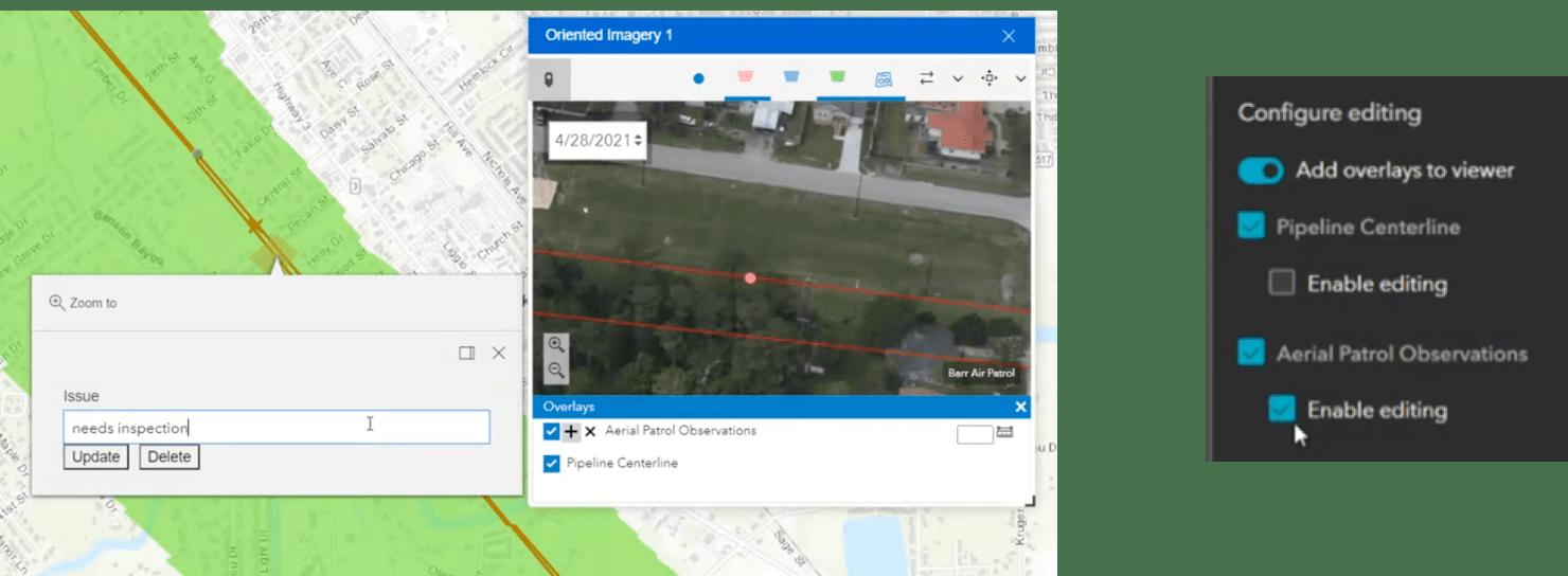 Edit overlays on ArcGIS Experience Builder web app
