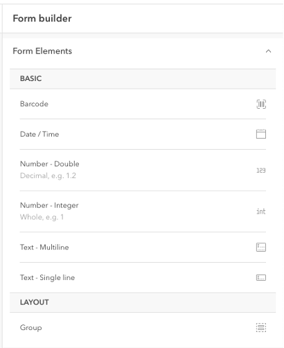 add form elements from scratch