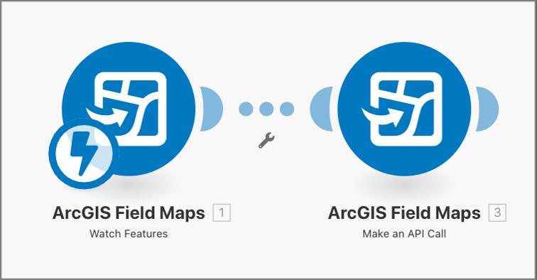 ArcGIS Field Maps Integromat app modules