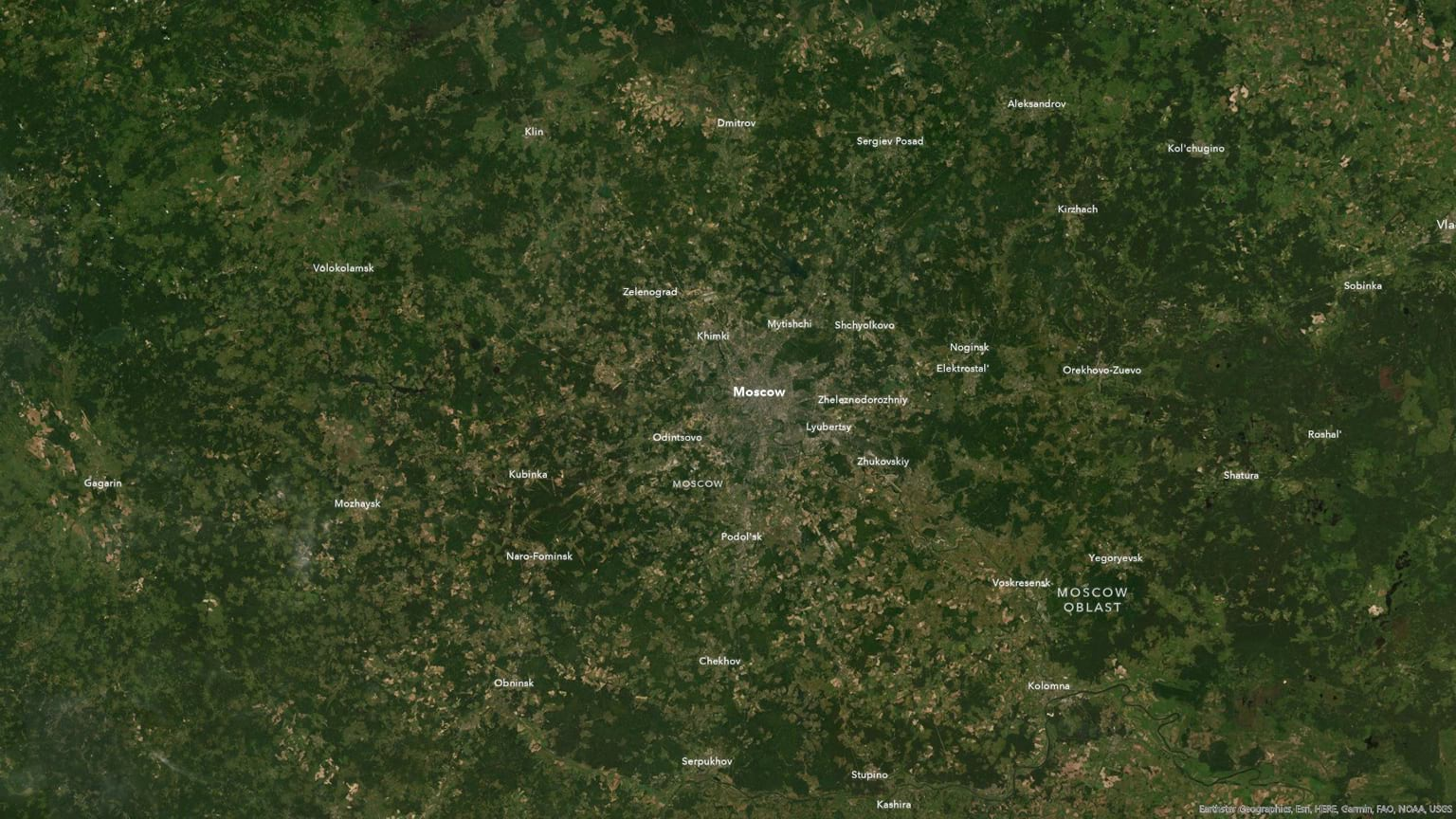 Moscow has very little terrain.
