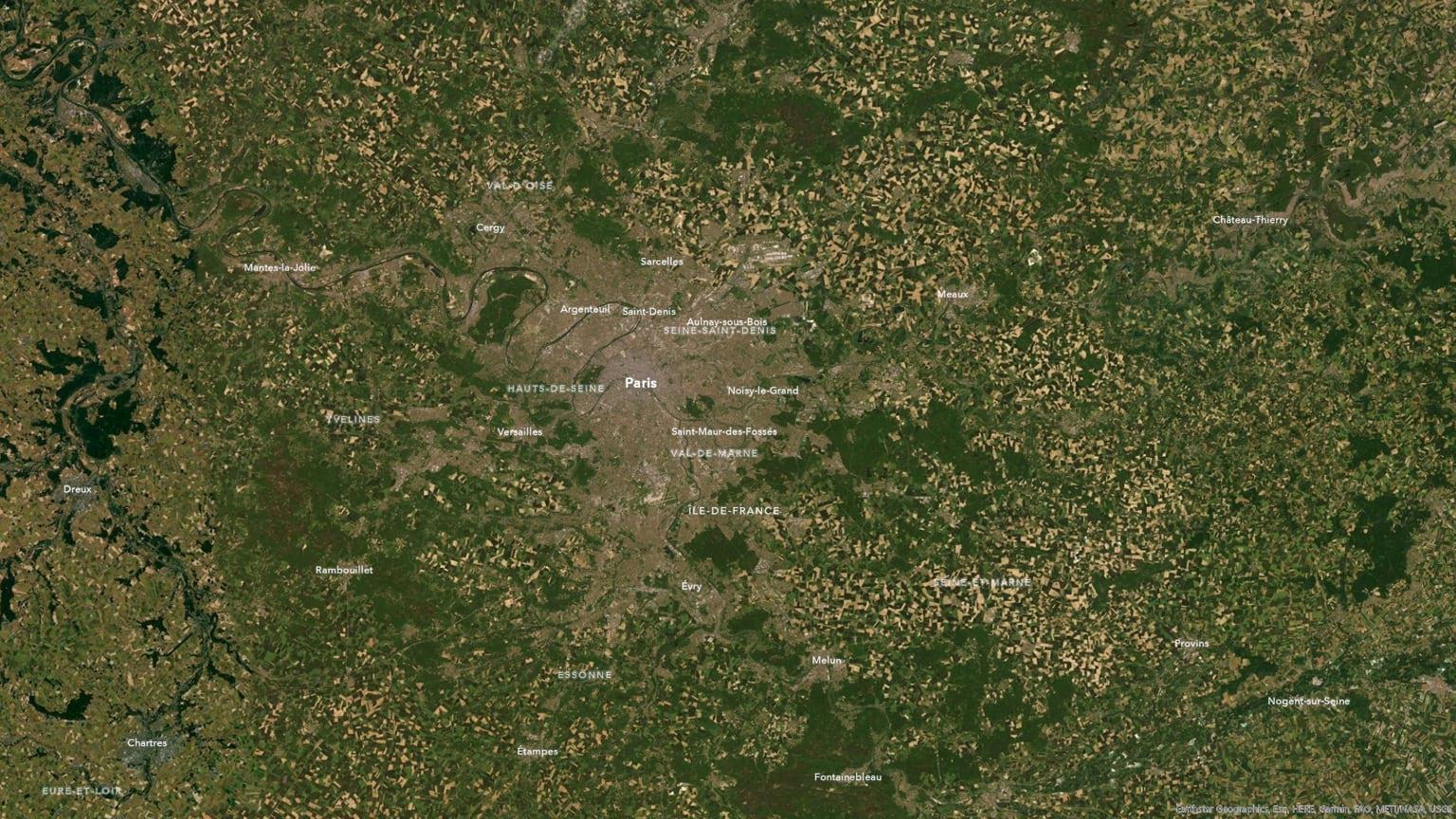 The plains of metro Paris.