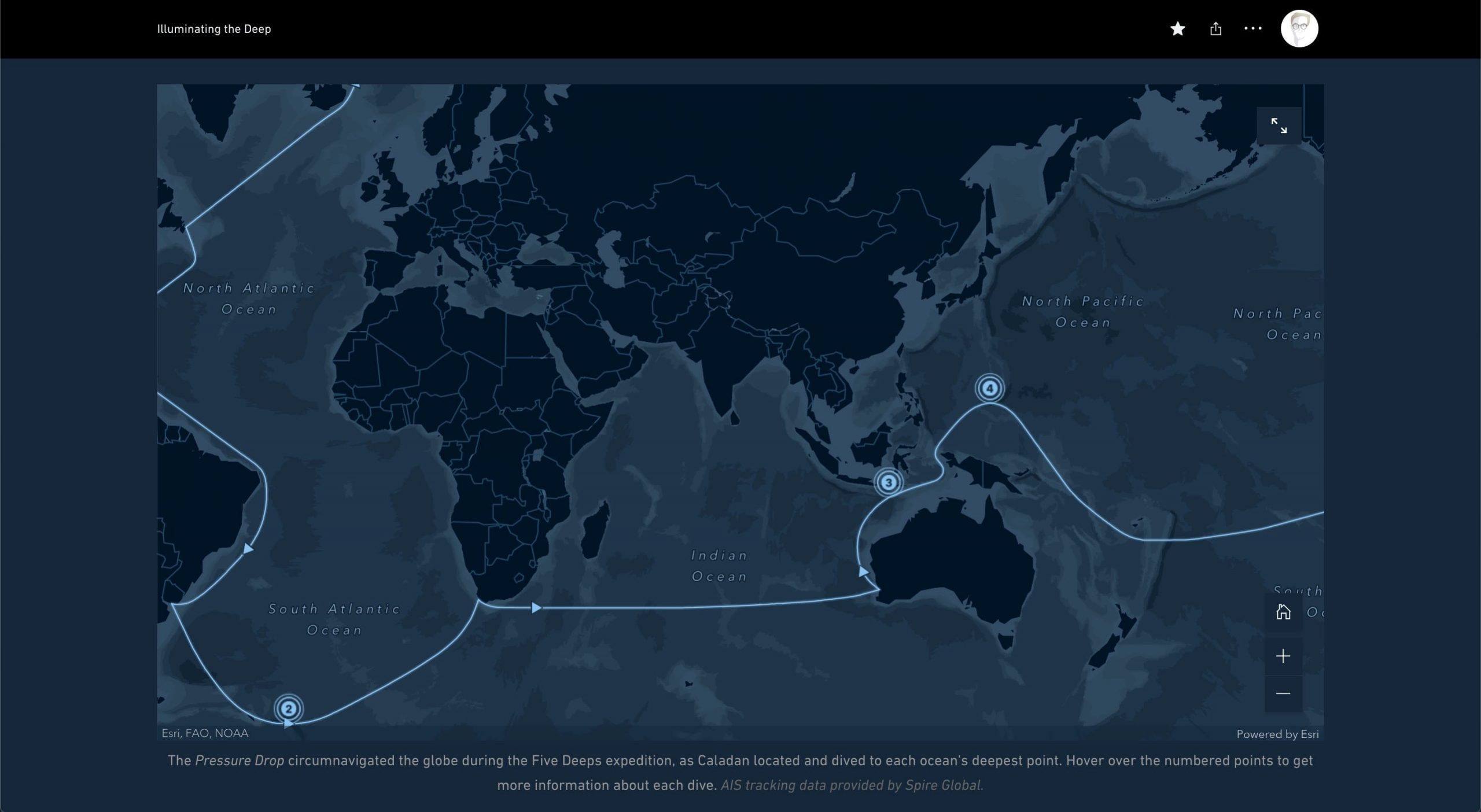 The Deep Blue custom basemap style