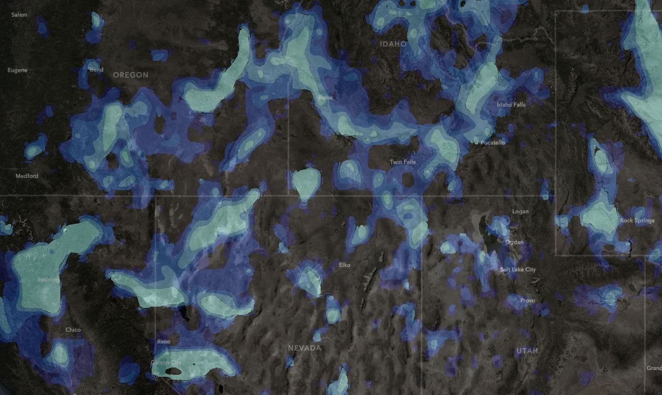 Inverted smoke forecast colors.