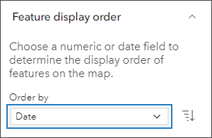Feature display order