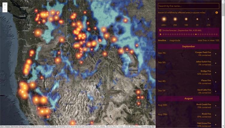USA Wildfire Activity