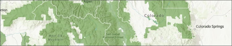 Park and forest boundaries