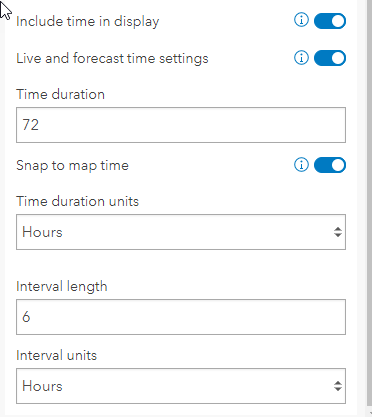 Live data settings