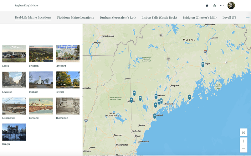 Locations in Maine