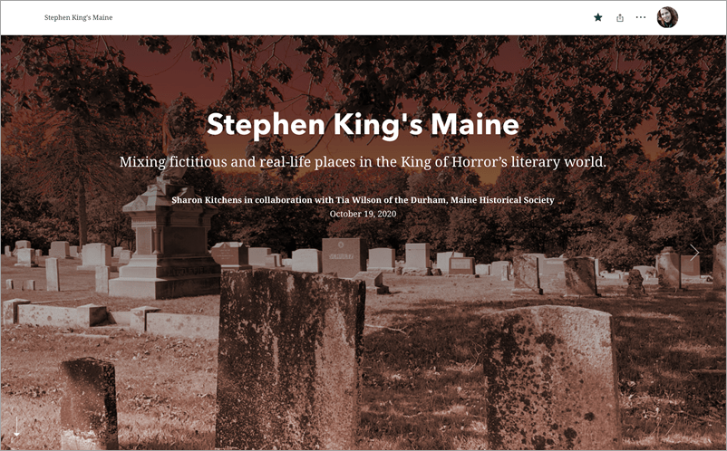Stephen King's Maine story
