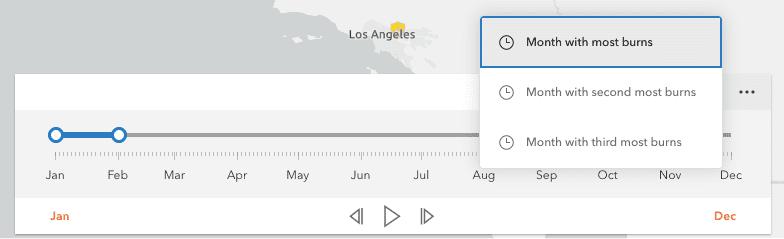 time slider widget custom actions