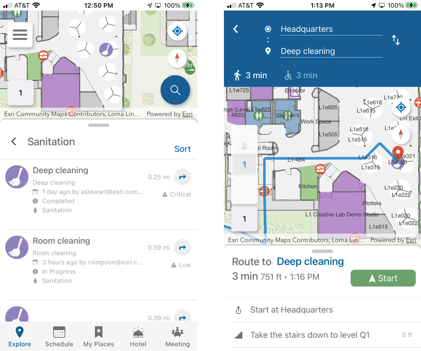 arcgis indoors mobile app work order management routing