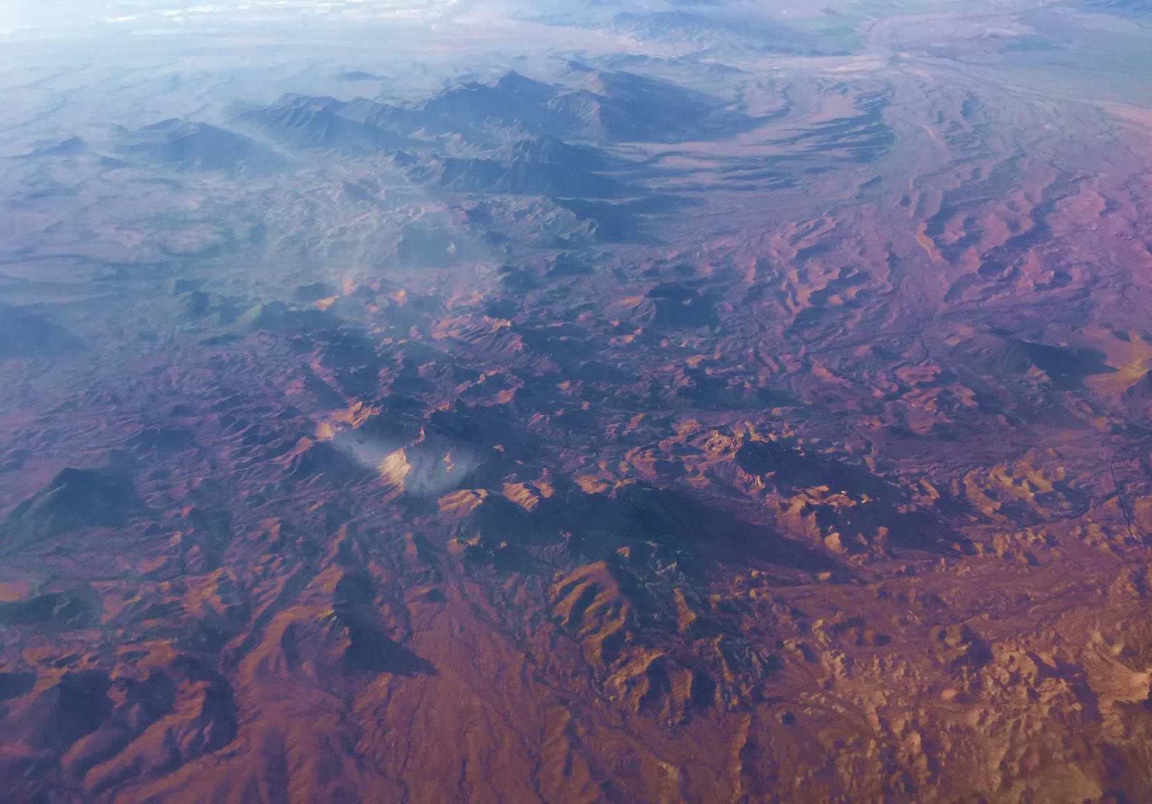 Allen Carroll's early morning early morning photo from an airplane departing California.