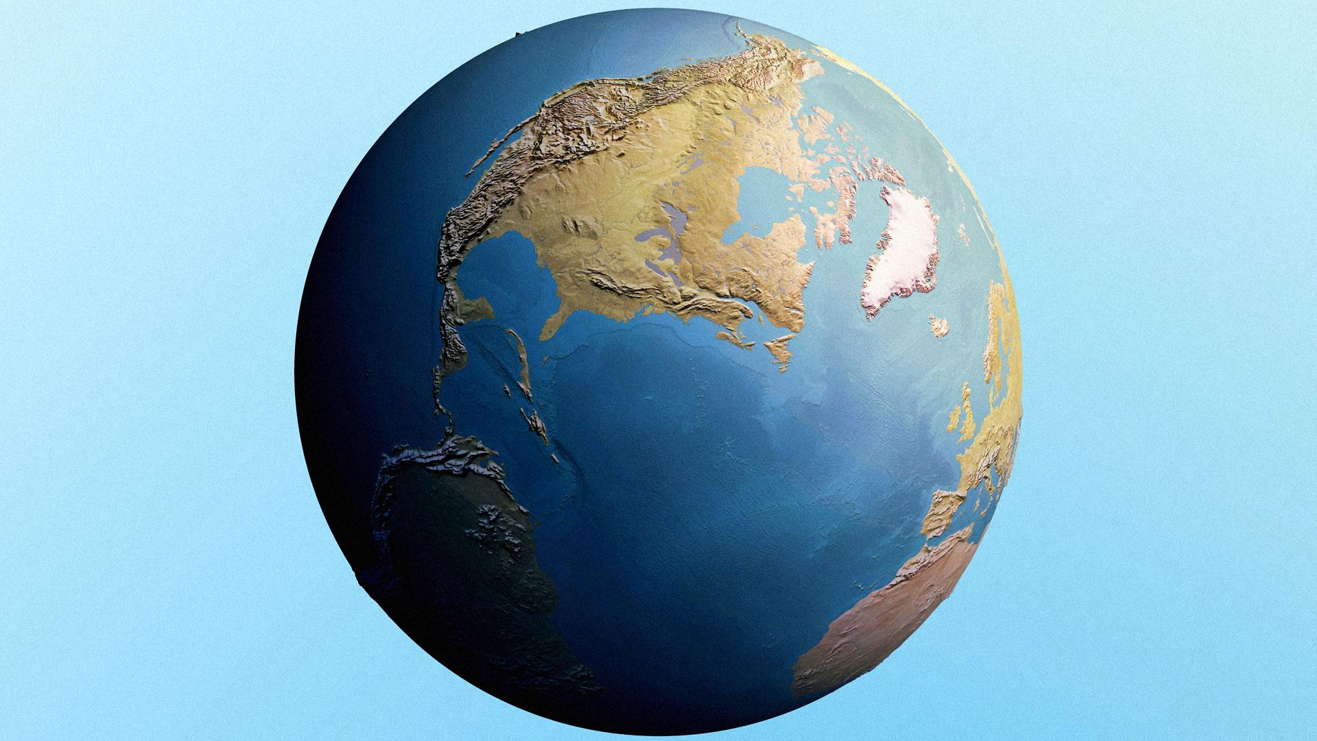 Stock art globe.