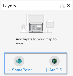 Add data in ArcGIS for SharePoint.