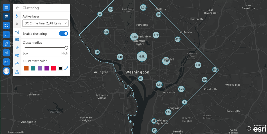 Clustering the features in ArcGIS for SharePoint