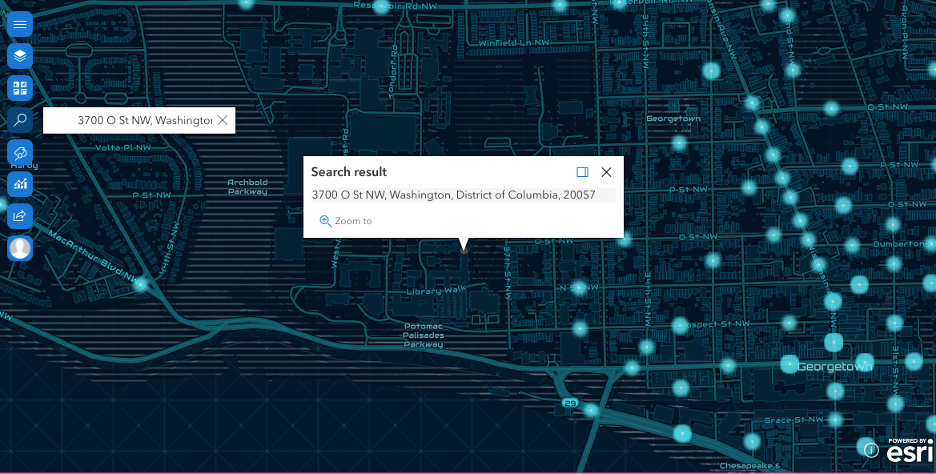 Search tool in ArcGIS for SharePoint
