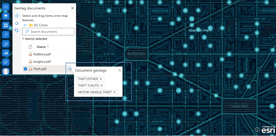 Document geotags in ArcGIS for SharePoint