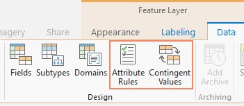 Image showing how to navigate to the new views from the Data tab's Design group in the ribbon.