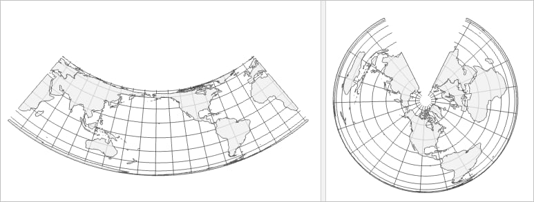 Two different PCS based on the Albers Equal Area Conic projection