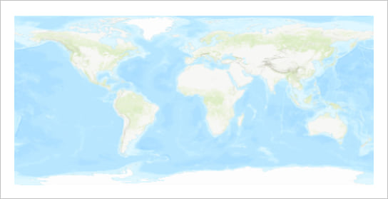 Map of the world in plate caree