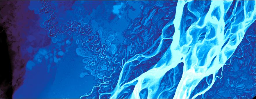 Lena River terrain