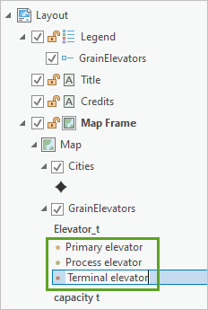 Renamed items in Contents pane