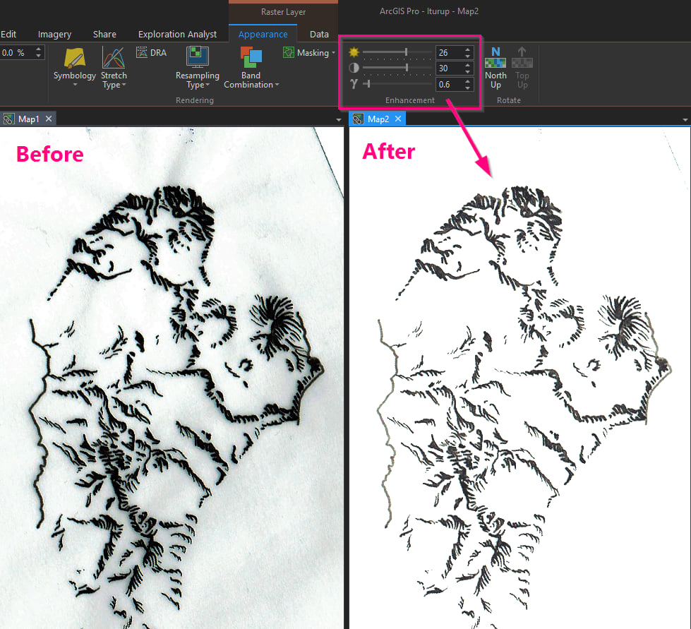 adjusting the drawing in ArcGIS Pro