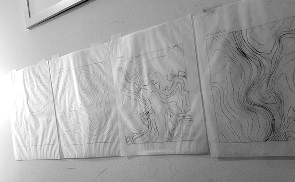 Completed contour drawings