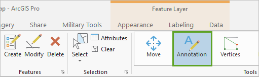 Annotation button on the ribbon