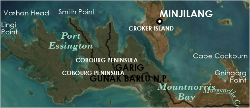 Cobourg Penninsula with labels