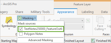 TextNotes layer checked in the masking menu