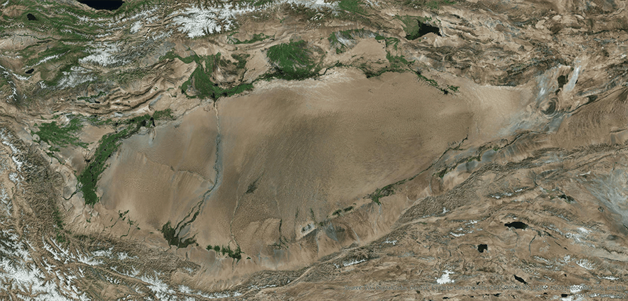 Imagery of the Taklamakan Desert