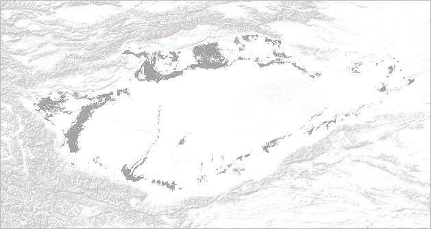 The Terrain basemap with the vegetation layer