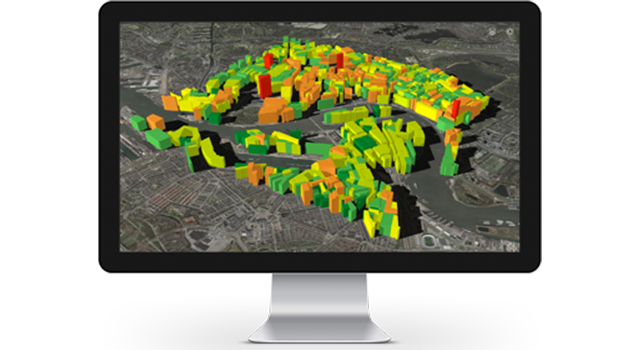 Create, analyze, and edit your data in 3D using ArcGIS.
