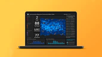 ArcGIS Dashboards enables effective communication of information through a dashboard.