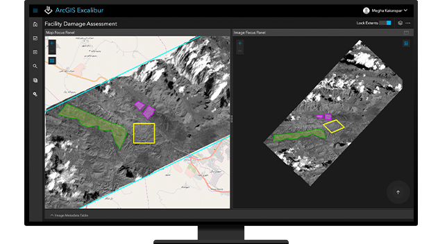 Side-by-side orthorectified imagery in ArcGIS Excalibur