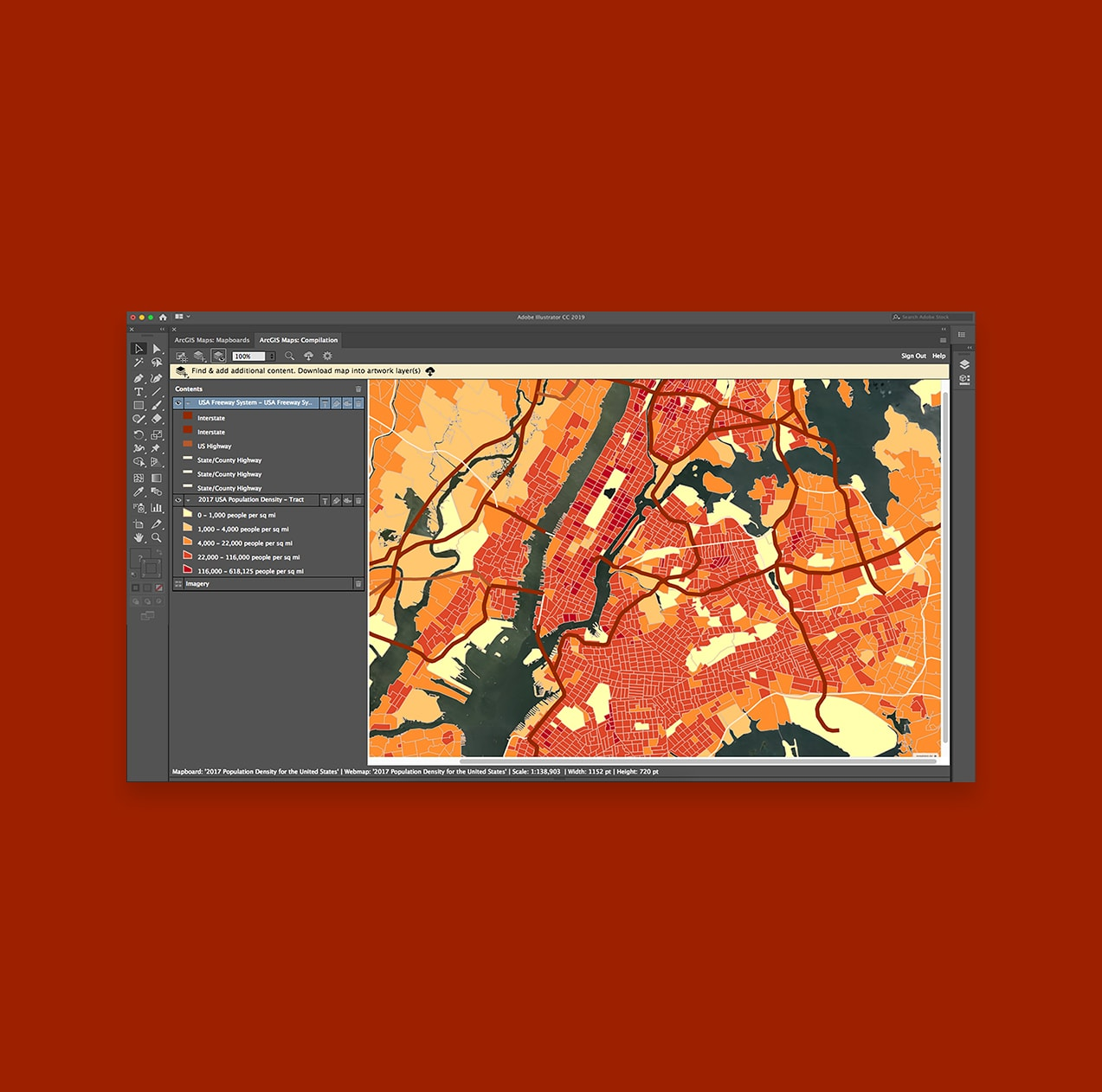 Arcgis Maps For Adobe Creative Cloud Design With Data Driven Maps - Us-cloud-map