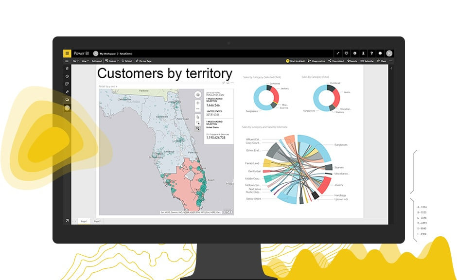 ArcGIS Maps For Microsoft Power BI Boost Your Map Visualizations - Microsoft satellite maps