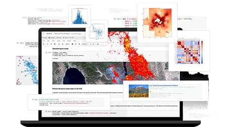 ArcGIS Notebooks Capabilities Collage