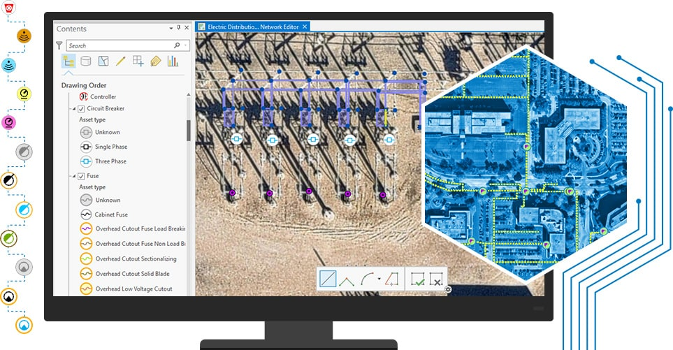 Resultado de imagen para GIS utility network