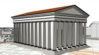 Illustrated image of Roman architecture
